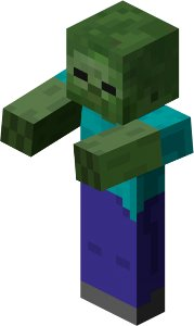 Zombie from my current obsession - Minecraft.