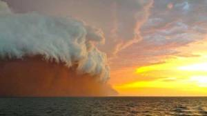 Spectacular weather patterns are forming off WA's northern coast as Tropical Cyclone Narelle closes in. Picture: Sam Woodcock. Source: PerthNow