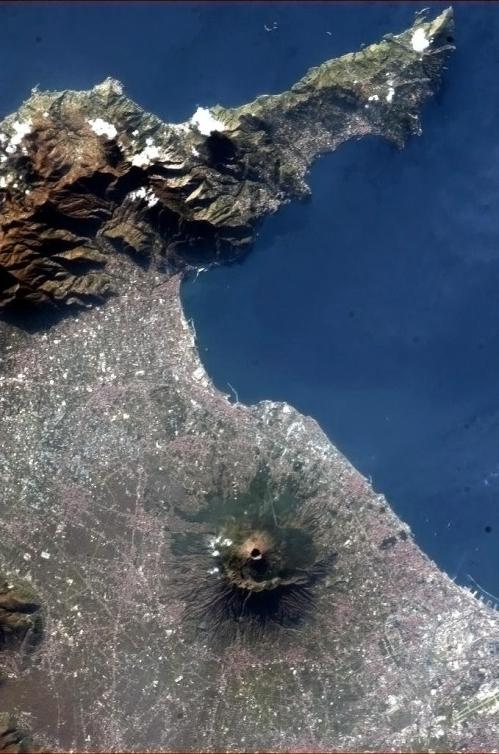 Mt Vesuvius. Pretty amazing that there are settlements encircling the entire volcano, considering it is still active.