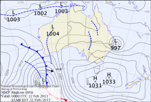An East Coast Low off the QLD coast