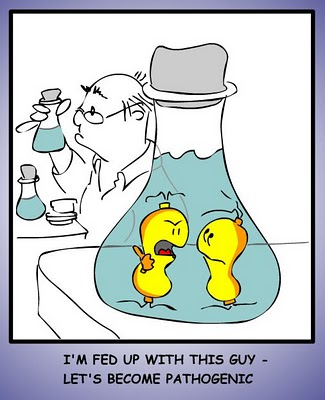 pathogenic microbes cartoon