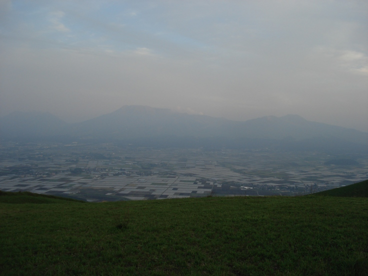 "View from the rim of the north side of the Aso caldera. This place is known as Daikanbo, which literally means ""great big view""."