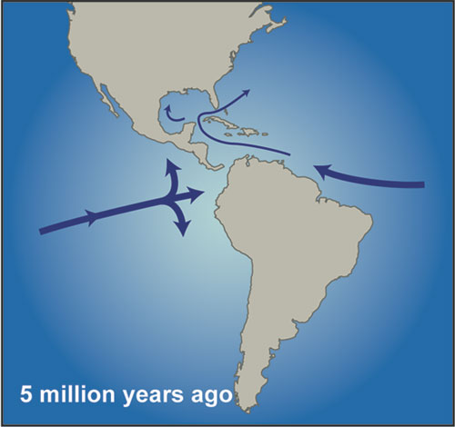 Central America in the early Pliocene.