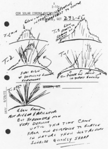 Fig. 6: Twilight rays, sketched by Apollo 17 astronauts. http://upload.wikimedia.org/wikipedia/commons/7/72/Apollo_17_twilight_ray_sketch.jpg