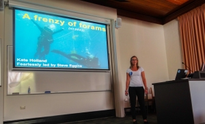 A frenzy of Forams: Kate's talk about her fieldwork diving of Catalina Island to catch Forams.