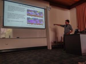 Scott presenting his award-winning talk on Iron in the oceans