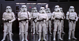 Also please don't clone a bounty hunter to make an army. Hold on...are you wearing a cup or are you pleased to see me? (starwars.wikia.com)