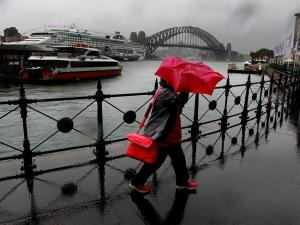 Wet weather in Sydney yesterday. Source: News Limited.