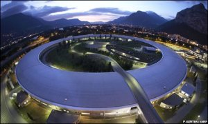 This is a synchrotron. It's big, round, and the coffee is crap