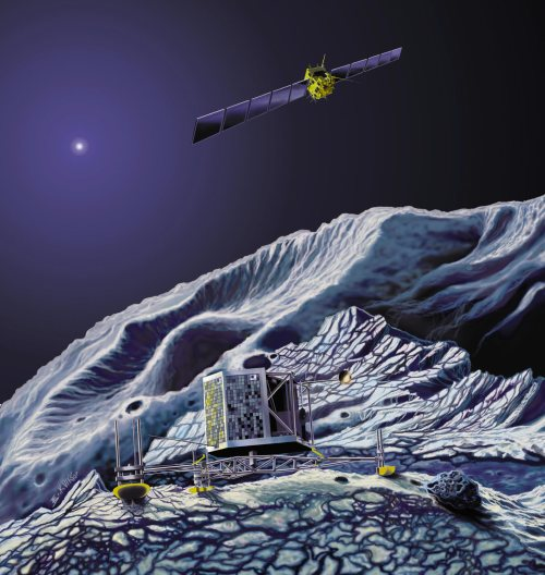 Rosetta_orbits_comet_with_lander_on_its_surface