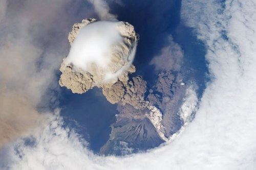 Eruption of the Sarychev Volcano as seen from SpaceSource