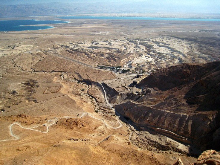 A view of the Dead Sea from Masada. © by CarmelH, source: http://www.panoramio.com/photo/17257440