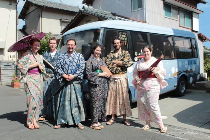 Kimono experience provided by our Shimizu hosts! Photo by Mochan Wishclub.