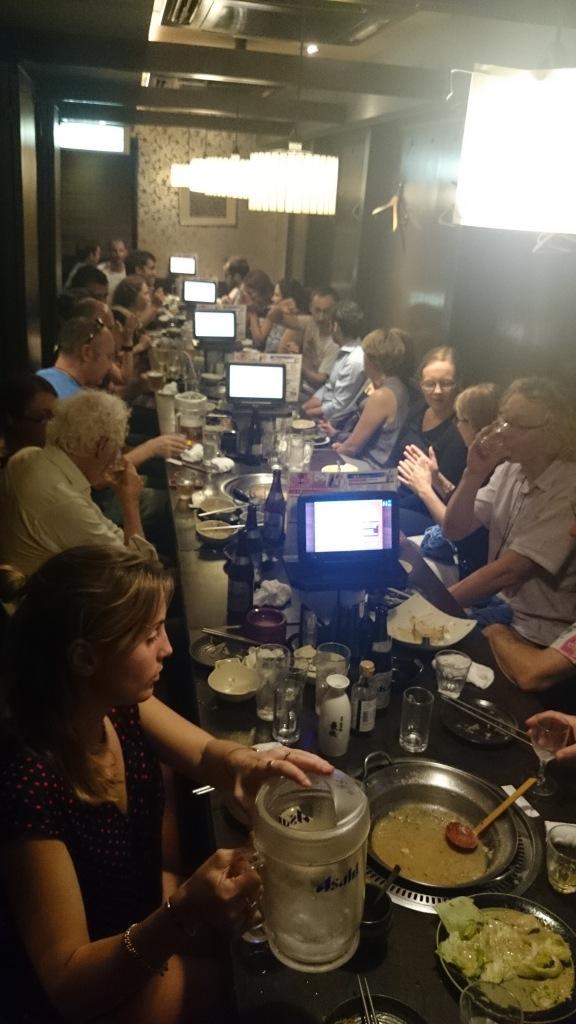 AQUA dinner at an izakaya. Photo by Len Martin.