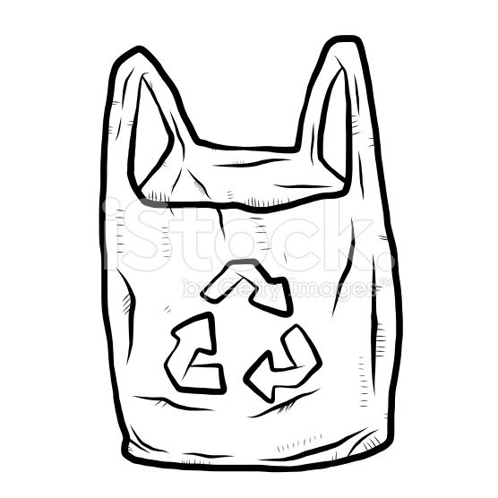 Plastic shopping bags vector